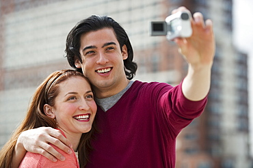 Couple taking self portrait