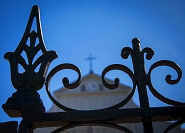 Close up of iron fence, USA, Louisiana, New Orleans