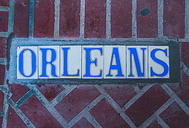 Close up of tile sign, USA, Louisiana, New Orleans