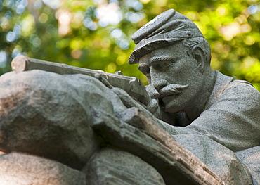 USA, Pennsylvania, Gettysburg, Statue of soldier