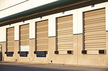 Row of closed loading docks