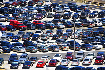 cars parked in lot