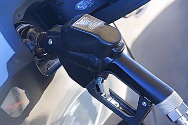 pumping gas in a car