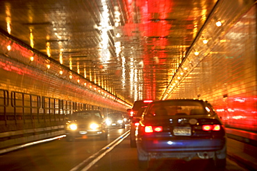 cars in tunnel,