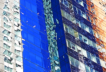 Colorful highrise building, New York City
