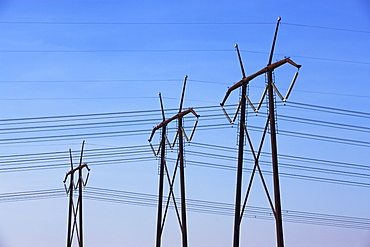 Communication towers and power lines