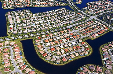 Aerial view of neighborhood in Florida