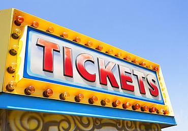 Tickets sign at fairgrounds