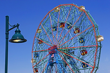 Ferris wheel and lamppost