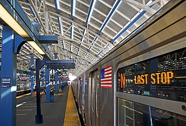 USA, New York State, Brooklyn, Coney Island, Subway Platform