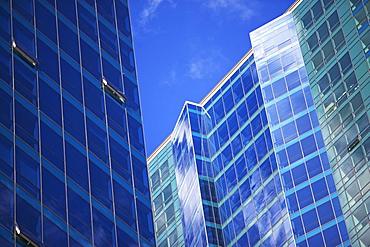 USA, New Jersey, Jersey City, Glass office buildings