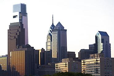 USA, Pennsylvania, Philadelphia, Comcast Center skyline