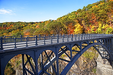 USA, New York, Croton, footbridge