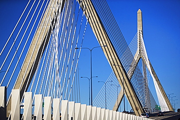 USA, Massachusetts, Boston, Leonard P. Zakim Bunker Hill Memorial Bridge