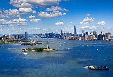 Aerial view of Manhattan, New York City, New York