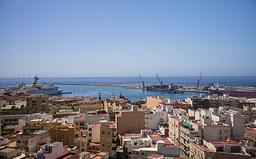 View of harbor, Cadiz, Spain