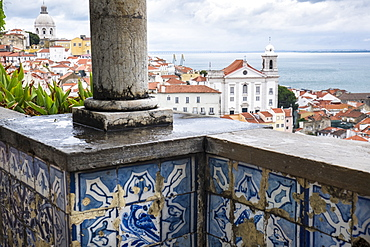 View of Alfama district, Lisbon, Portugal