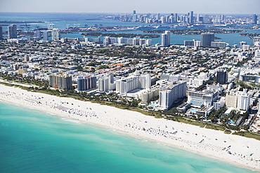 USA, Florida, Miami, Cityscape with beach