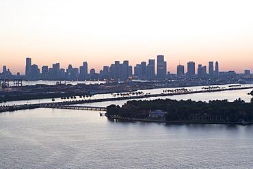 USA, Florida, Miami, Cityscape with coastline