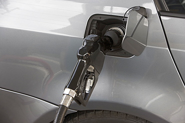 Close-up of refueling pump