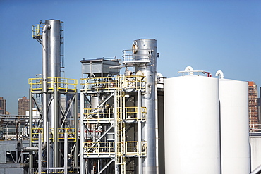 USA, New York State, New York City, Oil processing plant