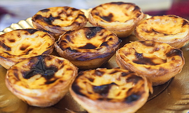 Egg tart pastry, Lisbon, Portugal