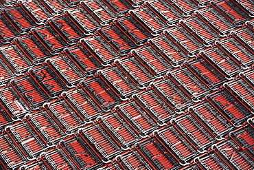 Full frame shot of supermarket trolleys