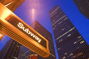 USA, New York State, New York City, subway station at 6th avenue