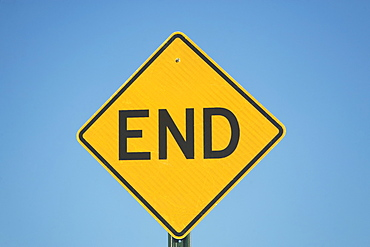 Close-up of dead end sign