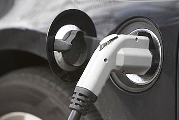 close-up of electric car