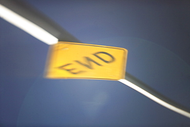 reflection of dead end sign