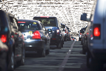 USA, New York, Long Island, New York City, Queensboro bridge, Cars in traffic jam, USA, New York, Long Island, New York City
