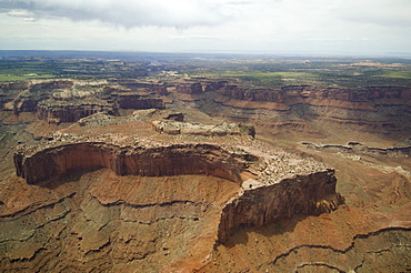 Aerial view of river in canyon, Colorado River, Canyonlands National Park, Moab, Utah, United States
