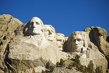 Low angle view of Mount Rushmore, Black Hills, South Dakota, United States