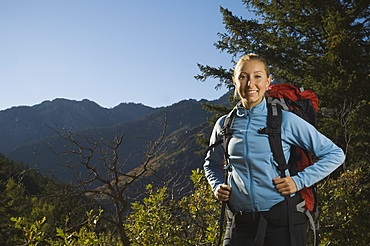 Portrait of female hiker, Utah, United States