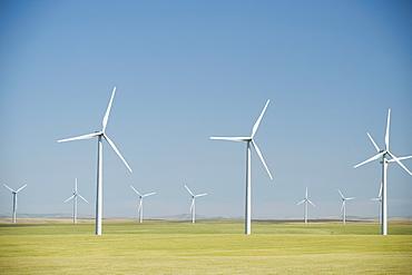 Windmills on wind farm