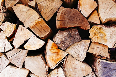 Stack of wooden logs