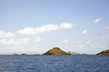 Scenic view of islands and sea, St. Barths