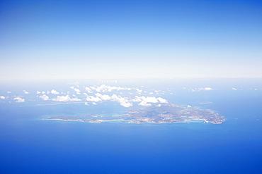 Aerial view of island, St. Maarten