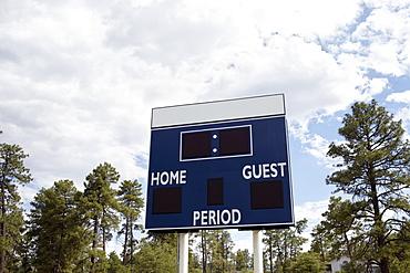 Low angle view of scoreboard, Phoenix, Arizona
