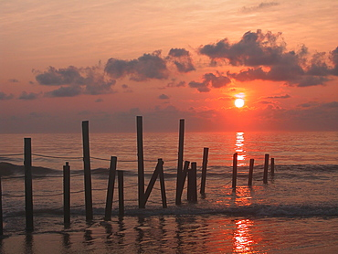 USA, Pennsylvania, Scenic sunset over sea, USA, Pennsylvania