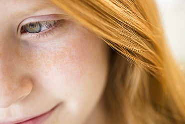 Close up of face of girl