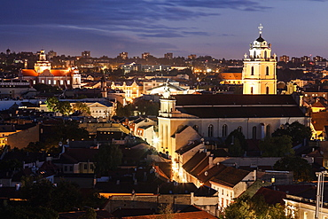 View of St John's Church and old town, Lithuania
