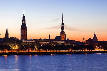 View of city across River Daugava, Latvia