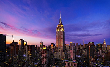 Empire State Building at dusk, New York City, New York