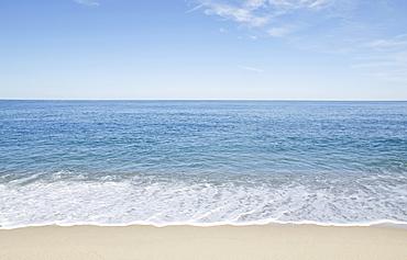 Beach with blue sky, Great Point, Nantucket Island, Massachusetts, USA