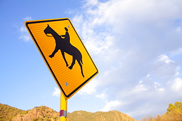 Low angle view of road sign, Colorado
