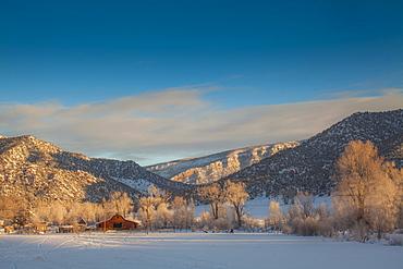 New Castle, Scenic view of winter landscape, New Castle, Colorado