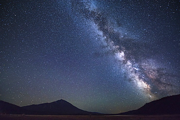 Scenic view of night sky, Mount Bachelor, Oregon