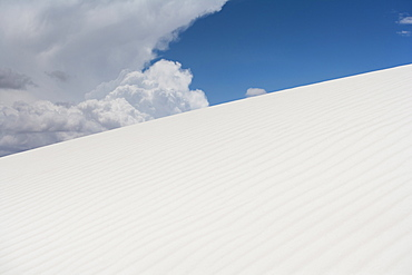 Scenic view of landscape, White Sands National Monument, Alamogordo, New Mexico